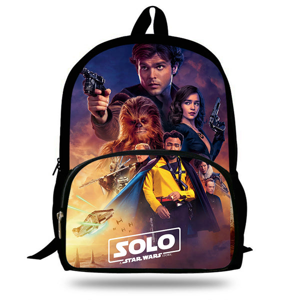 16-Inch 2018 Hot Children Solo A Star Wars Story Backpacks For School Boys Girls Printed Superhero Backpack For Kids Students