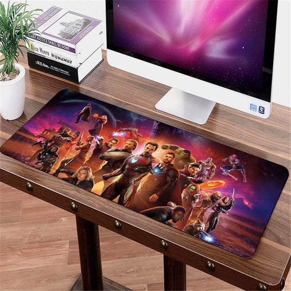 SIANCS 70*30cm Avengers Infinity War anime Gaming Mouse pad XL Large Grande mouse pad Thanos Iron Man gamer Keyboard Mat