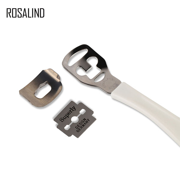 ROSALIND Dry Hard Skin Remover Foot Callus Shaver Corn Cutter Tool a rasp for a pedicure +1PC Blades Shaving Blades