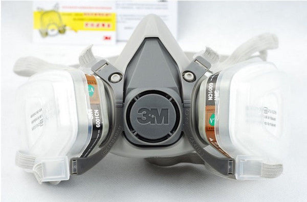 3M 6200 gas mask 7 Piece Suit Respirator with 3M 6001 Suitable for use Anti-Fog Haze Pesticide Painting Spraying