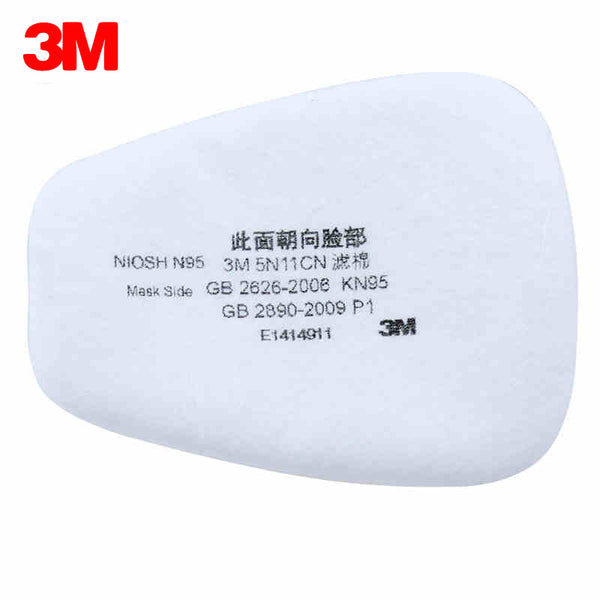 3M 10pcs/lot 5N11 N95 Particulate Filter Cotton For Gas Mask 6200 and 7502 Series Accessory Respirator Face Mask Accessories