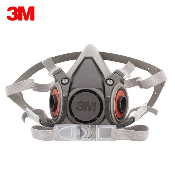 3M 6200 Respirator Gas Mask Chemical Filter Paint Spray Half Face Protection Mask Work Safety Construction Mining Car Mask Only