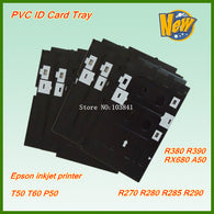 New compatible PVC ID Card tray For Epson T50 T60 A50 P50 RX680 R260 R270 R280 R285 R290 R380 R390 inkjet printer