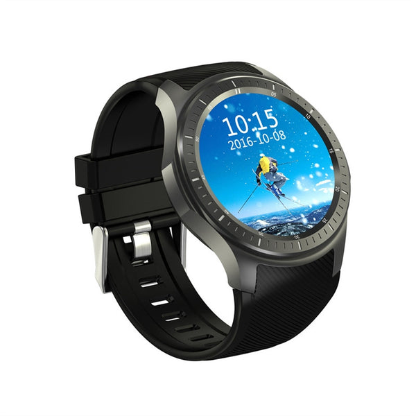 DM368 Touch Screen Bluetooth GSM GPS 3G Smart Watch Heart Rate Monitor(Black)