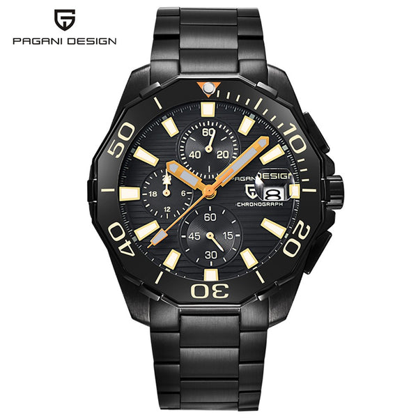 PAGANI Military Men's Watch, Luxury Chronograph Quartz Wristwatch, Waterproof Resistant Watches for Men Women