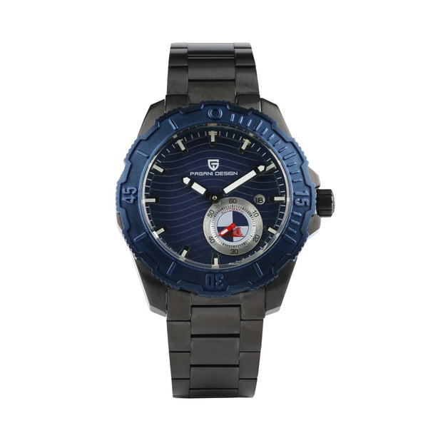 Classic Luxury Black Belt and Blue Surface Watch for Men, Stainless Steel Strap Watch for Boy, Quartz Wristwatches for Teenagers