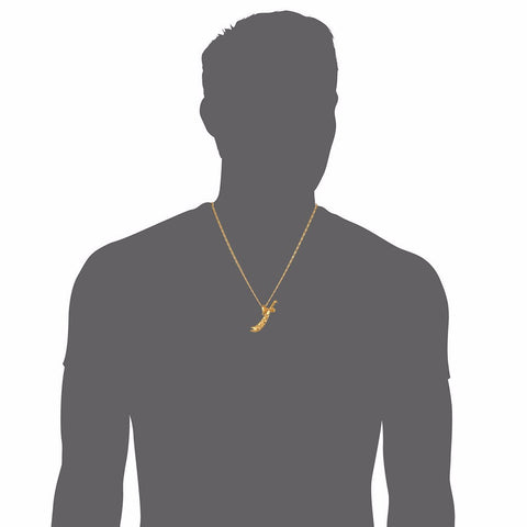 Trendy Ali Sword Pendants For Men's Gift Wholesale Gold Color Choker Chain Necklaces & Pendants Men Jewelry P356