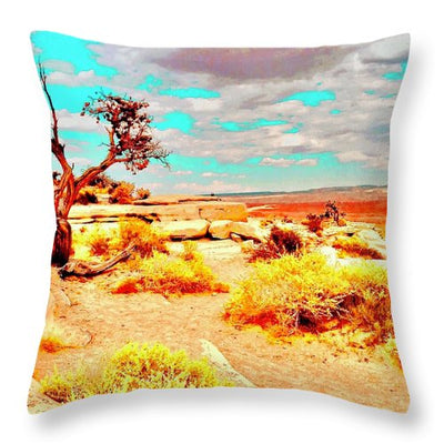 Desert Landscape - Throw Pillow