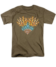 Orange Coral Heart - Men's T-Shirt  (Regular Fit)
