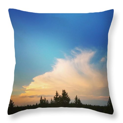 Whispy Clouds - Throw Pillow