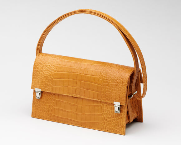Quoin Medium Handbag in Tan