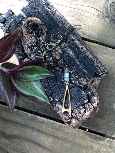 Labradorite and Vintage Drop