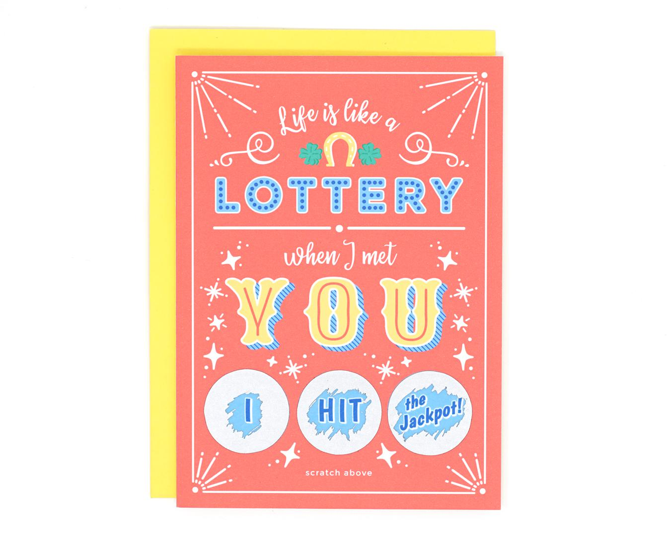 Love Lottery Scratch-off Card