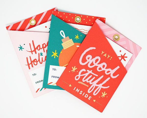 Holiday Pocket Gift Tags by Everyday Yay