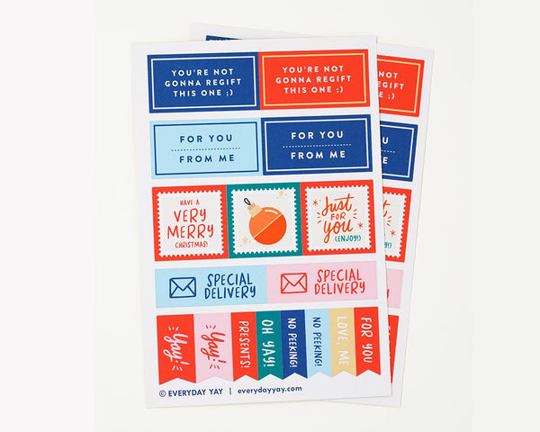 Holiday Stickers by Everyday Yay