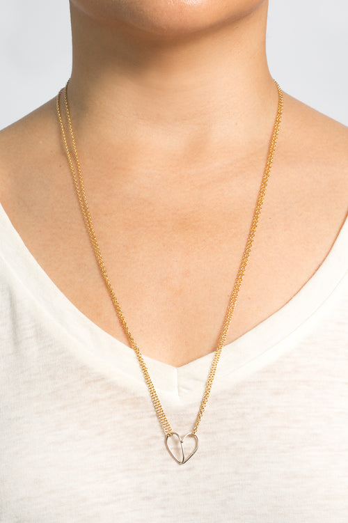 Helping Hearts Necklace (Gold)