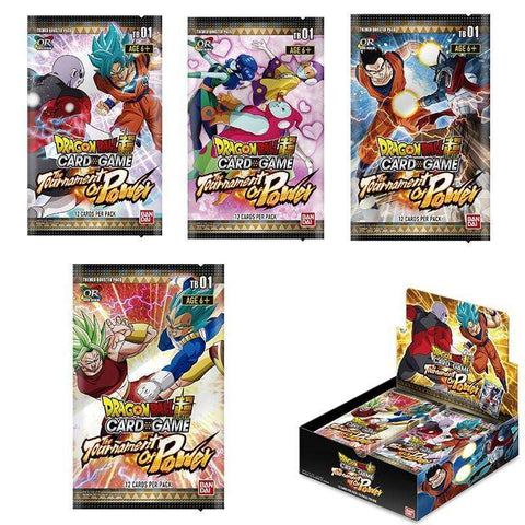 "Booster 12 cartes Dragon Ball Super FR - Theme Boosters ""Le Tournoi de Pouvoir"""