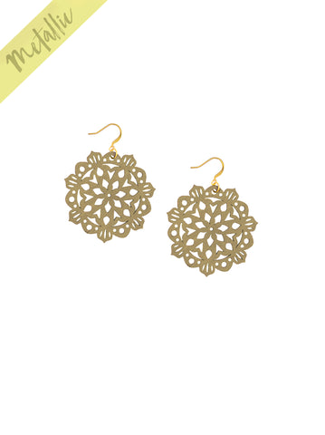 Mandala Earrings - Mini - Gold