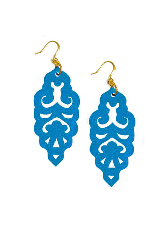 Filigree Earrings - Metallic Peacock - Large