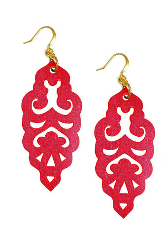 Filigree Earrings - Siren - Large
