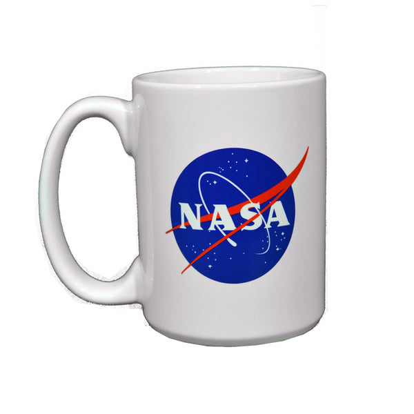 White Ceramic NASA Mug 15OZ