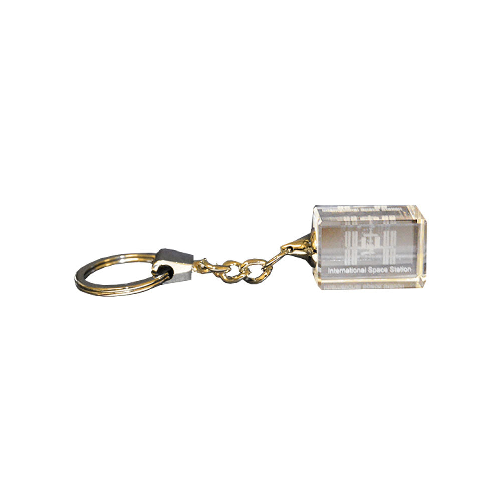 ISS Etched Crystal Key Chain