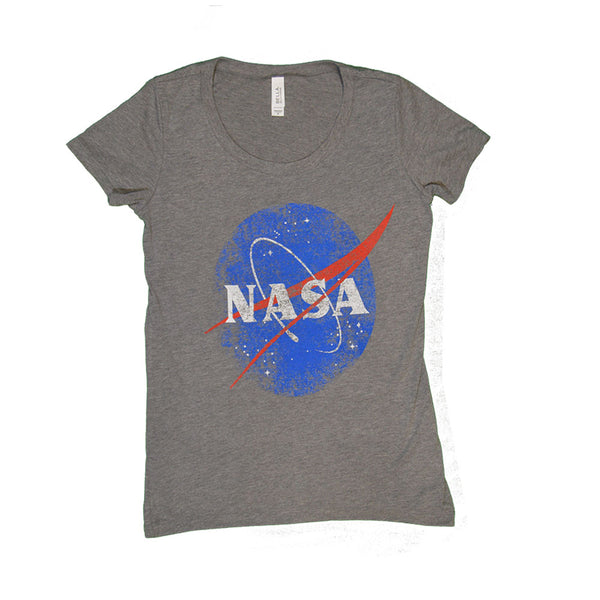 Women's Grey Retro NASA T-Shirt