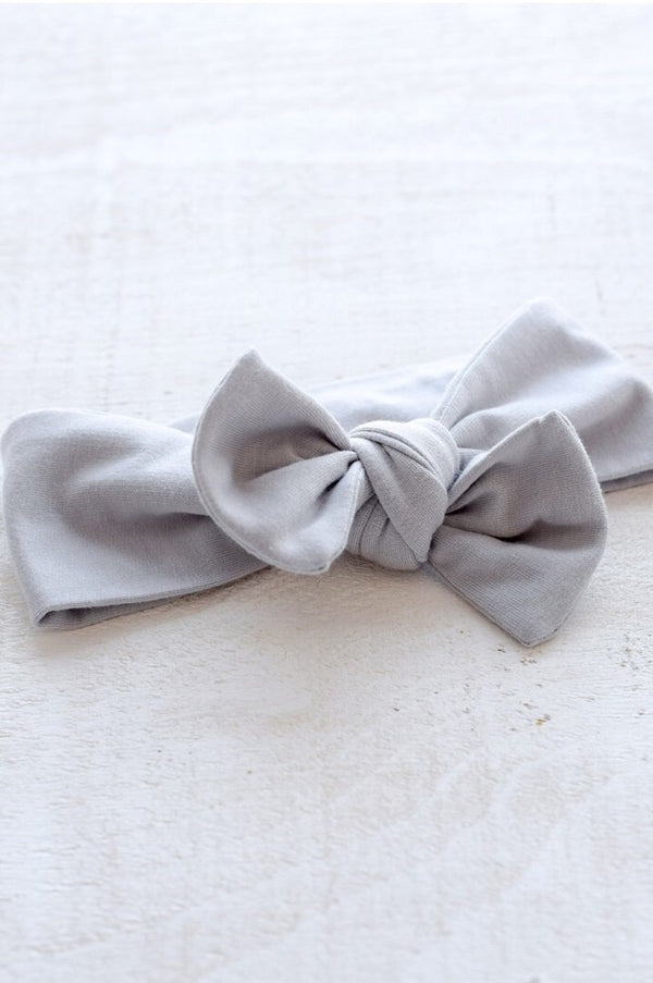 Mini Bretzel - Premium Soft Grey Headband