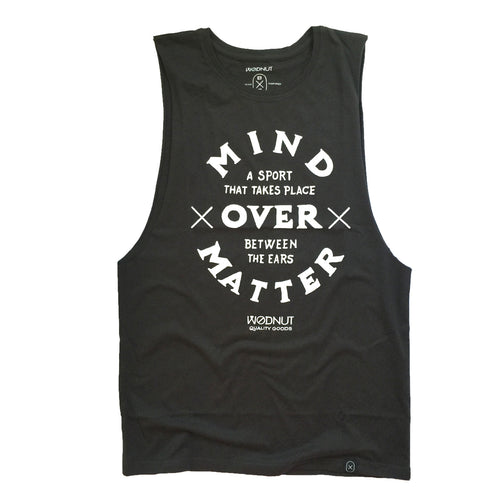 UNISEX Muscle Tee - Mind Over Matter (Charcoal)