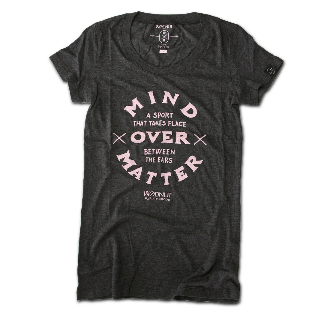 Triblend FEMALE Tshirt - Mind Over Matter (Vintage Black)