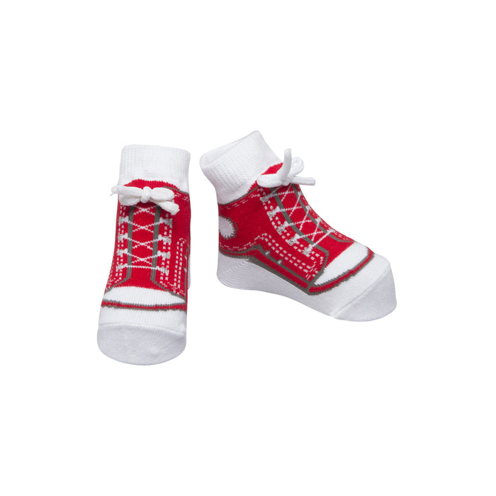 Sneaker Socks - Red - Baby Emporio baby emporio baby socks newborn baby socks girl baby socks anti slip baby socks and mittens newborn baby socks with grips