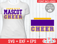 Cheer svg Template 0015, svg cut file