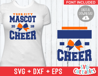 Cheer svg Template 003, svg cut file