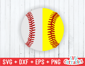Split Baseball | Softball | SVG Cut File