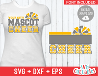 Cheer svg Template 008, svg cut file