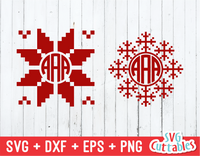 Christmas Monogram Vector, Christmas Sweater Monogram