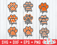 Tigers Patterned Paw Prints