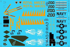 "Freewing F/A-18 64MM ""Royal Maces"" Decal Sheet FJ1071107"