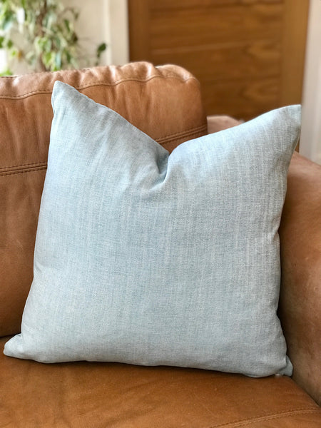 Woven Look Duck Egg Cushion