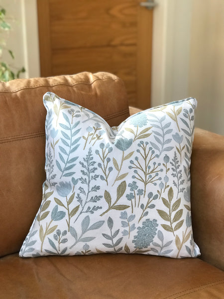 Duck Egg Leaf Cushion