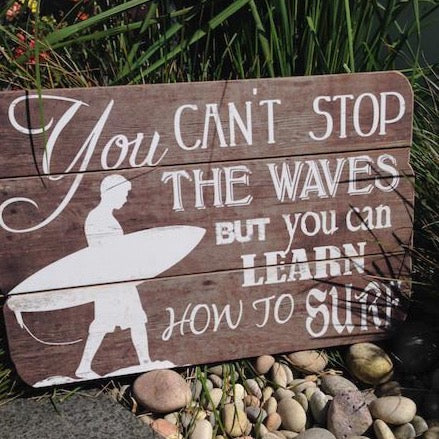 Learn How to Surf Sign