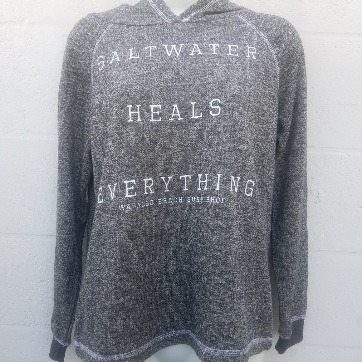 Women Salt Water Heals Everything Wabasso Beach Surf Shop Sweatshirt Hoodie Saltwater