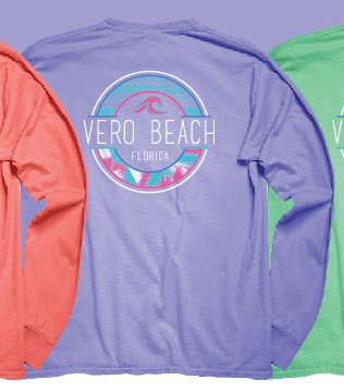 Blue 84 Contorted Wave Long Sleeve Shirt T-Shirt Vero Beach FL