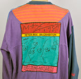 Vintage 1987 Peter Max NeoMax 2 piece Gallery Shirt and Matching Skirt
