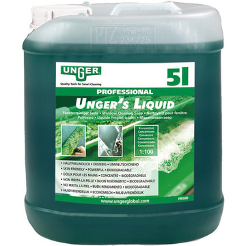 Unger Window Cleaning Liquid 5 Ltr -  Window Cleaning Chemical - Unger