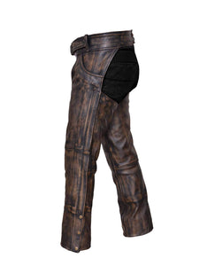 UNIK Unisex Nevada Brown Ultra Leather Chaps