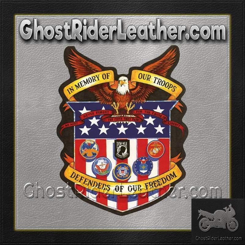 In Memory of Our Troops Patch / SKU GRL-PAT-A43-DL-military patch-Ghost Rider Leather