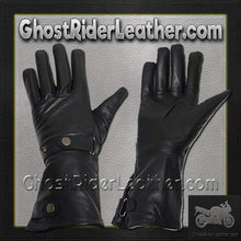 Long Leather Summer Riding Gauntlet Gloves / SKU GRL-GL2064-DL-Motorcycle riding gloves-Ghost Rider Leather