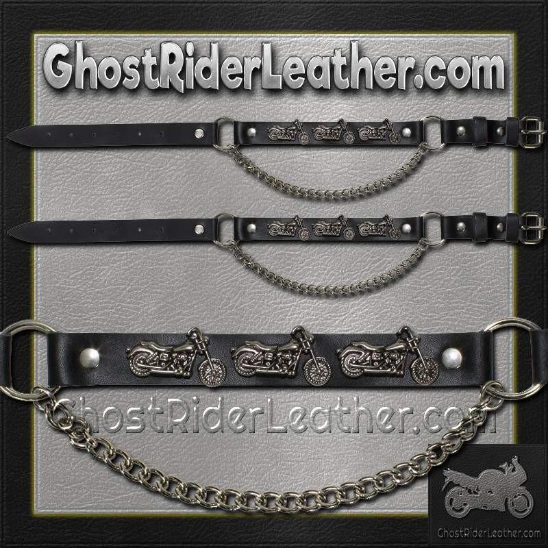 Pair of Biker Boot Chains - Motorcycle - SKU GRL-BC18-DL-biker boot chains-Ghost Rider Leather