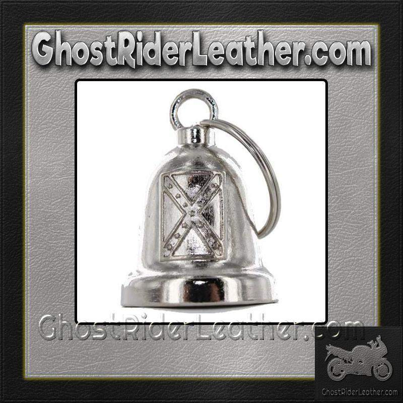 Rebel Flag - Confederate Flag - Motorcycle Ride Bell - SKU GRL-BLC20-DL-motorcycle ride bell-Ghost Rider Leather